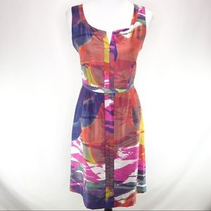 Tory Burch Silk Abstract Multi Color Shift Dress 6